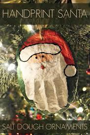 print santa salt dough ornament