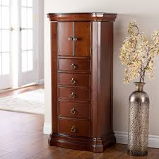 brown jewelry armoire large standing jewelry armoire