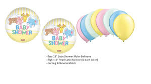 baby animals in bed baby shower balloon set from judyspartyshop on