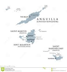 St Martin Map Anguilla Saint Martin Sint Maarten And Saint Barthelemy