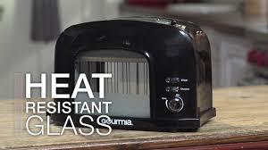 See Through Toaster Gourmia Gwt230 Motorized Toaster With See Through Window Youtube