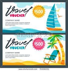travel voucher images Vector gift travel voucher template tropical stock vector jpg