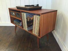 new mid century modern record player console stereo cabinet with