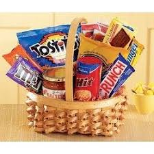 junk food basket birthday flowers for kids 1st in flowers