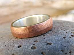 buy metal rings images Buy a hand crafted mens wedding band copper silver forged mixed jpg