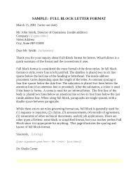 Semi Block Format Business Letter by Full Block Letter Format Letter Format 2017