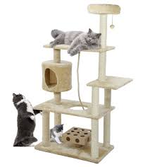 cat furniture deluxe playground with cat iq busy box furhaven pet products