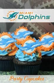 miami dolphins cupcakes go fins mommy mafia