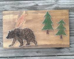 Hunting And Fishing Home Decor String Art Rainbow Trout Hunting And Fishing Wall Decor Gift