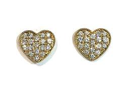 heart shaped diamond earrings heart shaped diamond earrings sheryl jones designs