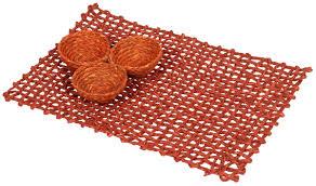 Orange Home Decor Accessories by Table Mat U2013 Handmade In Sabai Grass U2013 Orange Color U2013 Table Top
