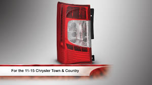 11 15 chrysler town u0026 country oem style led tail light youtube