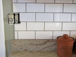 white subway backsplash white subway tile backsplash what color grout wonderful white