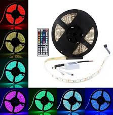 led strip lights remote riorand 16 4ft smd 5050 waterproof 300leds rgb flexible led strip