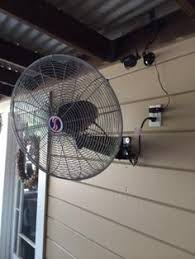 outdoor oscillating fans patio shop harbor breeze 18 in 3 speed oscillating fan at lowes com