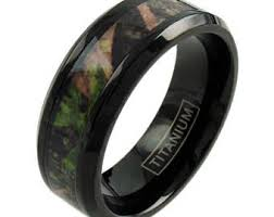 mens camo wedding rings camo wedding rings etsy