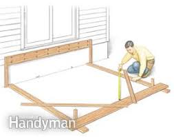 How To Make A Rock Patio by Tips For How To Build A Deck Family Handyman