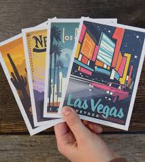 photo postcard explore america vintage style postcard set vintage travel