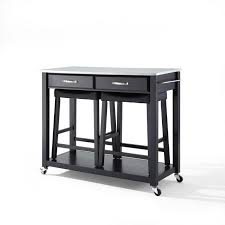 black kitchen island with stainless steel top stainless steel kitchen island cart mission kitchen