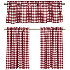 Checkered Kitchen Curtains Wine White Kitchen Curtains Gingham Checkered