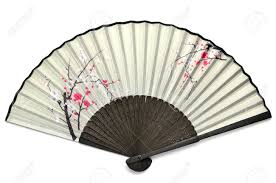 japanese folding fan the japanese folding fan containing the picture of the plum stock
