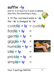 year 3 spellings suffix u0027 ly u0027 adverb 4 main rules ppt and