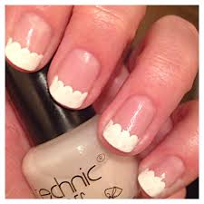 easy scalloped french manicure beginnersnailart u0027s blog