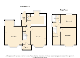 Semi Detached Floor Plans by 3 Bedroom Semi Detached House For Sale In Parsonage Road