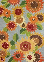 Outdoor Rugs Only by Homefires Sunflower Impression 8 U0027 X 10 U0027 Homefires Homefires