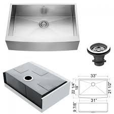 kitchen sink and faucet combo vg15004 16 stainless steel zero edge single bowl kitchen