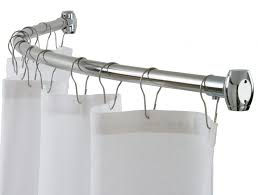 Shower Curtain Rod Round - curtains round shower curtain rod home depot no drill curtain