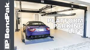 double and triple wide home car lifts by bendpak youtube