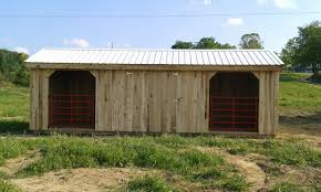 Loafing Shed Plans Horse Shelter by Tack Room Barns