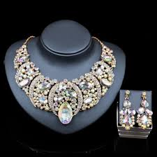 bridal necklace earring images Crystal bridal necklace earring set 786shop4you jpg