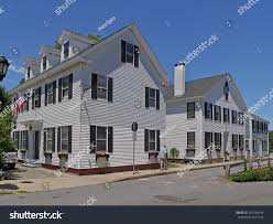 colonial houses 1700s plymouth massachusetts stock photo 365749934