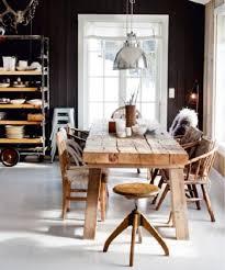 Scandinavian Kitchen Ideas With Wooden Dining Table And Chairs - Scandinavian kitchen table