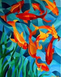 cubism flower painting fish on folk fish fish paintings and ceramic