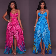 sexi maxi dress chiffon boho maxi dresses 2017 new summer