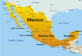 map of mexuco vallarta map of mexico major tourist attractions
