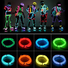 glow lights 4 size neon light glow el wire rope cable led