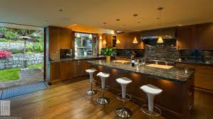 kitchen island overhang how is the granite overhang in the island being supported