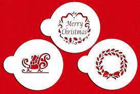 halloween cake stencils amazon com designer stencils c385 holiday christmas greetings