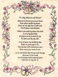 matron of honor poem wedding hankie to my matron of honor from with poem