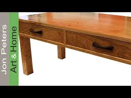 how to build a table with drawers how to make hand made rose wood drawer pulls youtube