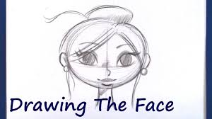 how to draw a cartoon face beginner level youtube