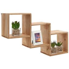 functional wall decor by nexxt cubbi accent wall shelves set of