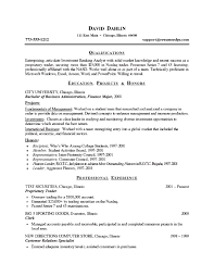 Banking Sample Resume by Investment Banking Analyst Resume Example Business Pinterest