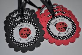 ladybug baby shower favors ladybug favor tags birthday party favor tags baby shower