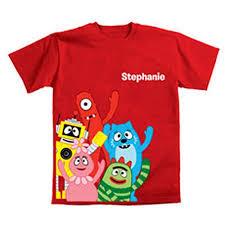 personalized yo gabba gabba gabba friends toddler shirt