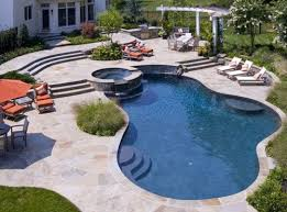 Inground Pool Patio Designs Semi Inground Pool Pictures Inground Outdoor Pool Constraction
